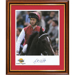 Lester Piggott Framed Photo Personally Signed
