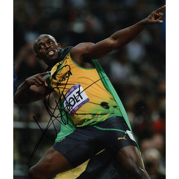 Usain Bolt Framed & Mounted Photo Display Personally Signed
