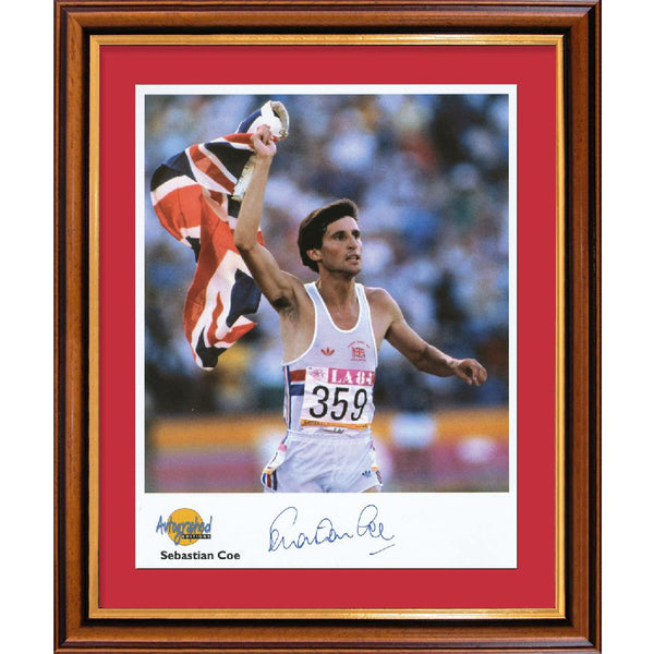 Lord Sebastian Coe Framed Colour Photo Personally Signed