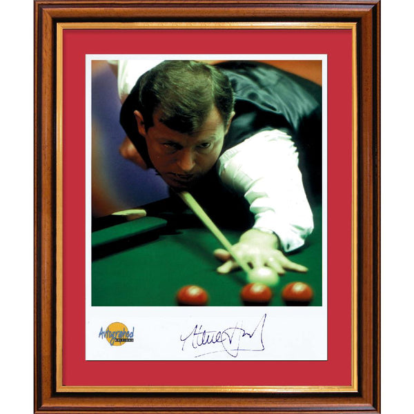 Steve Davis Framed Colour Photo Personally Signed