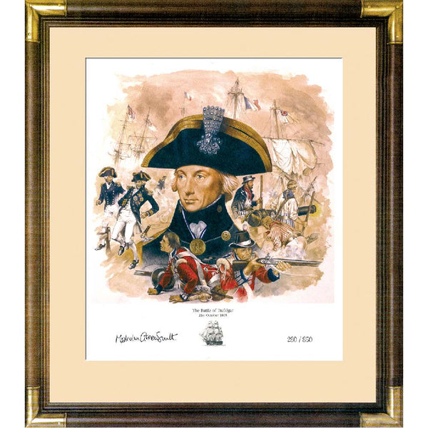 Battle of Trafalgar Framed& Mounted Print Limited Edition