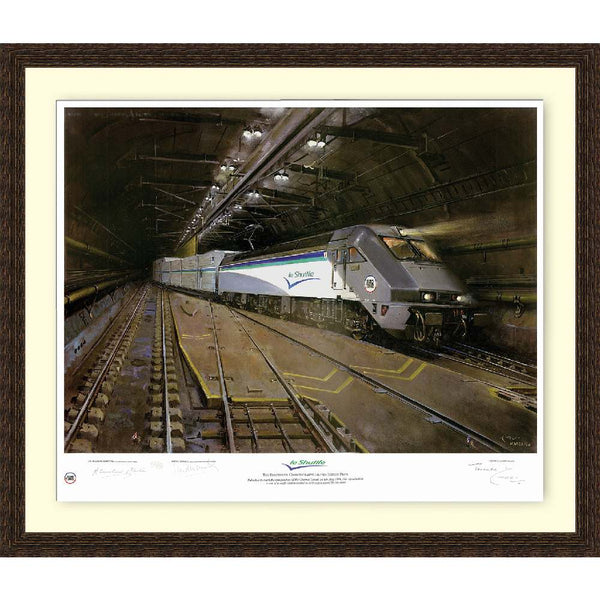 Le Shuttle Channel Tunnnel Framed Art Print Signed by Artist Terence Cuneo