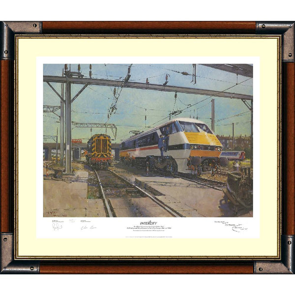 Inter City Framed Art Print Signed by Artist Terence Cuneo + 2 Others