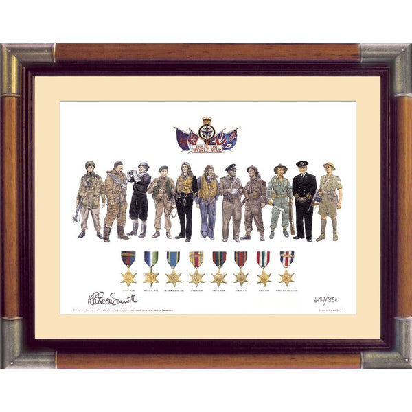 Men & Medals Framed Print Limited Edition