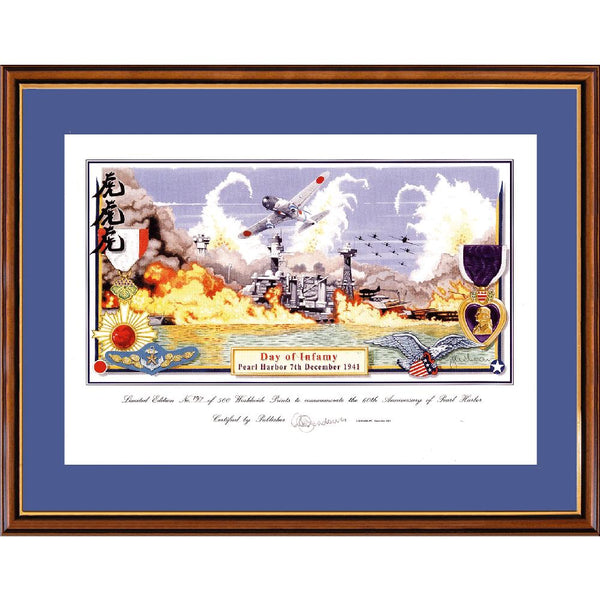 Pearl Harbour Day of Infamy Framed Print Limited Edition