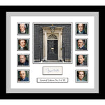 Prime Ministers Framed Stamps Sheetlet Pers. Signed by Margaret Thatcher