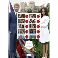 Prince Harry & Meghan Markle Royal Wedding Windsor Collectors Stamps Sheet Ltd Edition