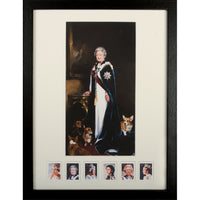 HM The Queen Framed Art Portrait Print by Nicky Phillips