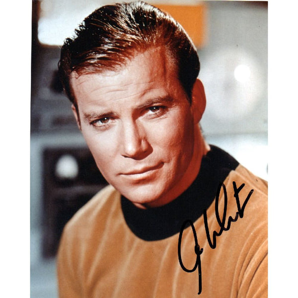 William Shatner as Capt Kirk Mounted Photo Personally Signed