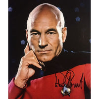 Patrick Stewart as Capt Jean Luc Picard Mounted Photo Personally Signed