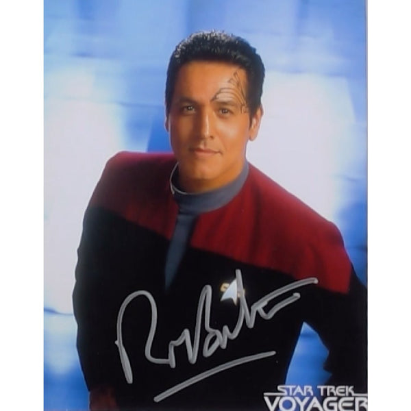 Robert Beltran as Commdr Chakotay Mounted Photo Personally Signed