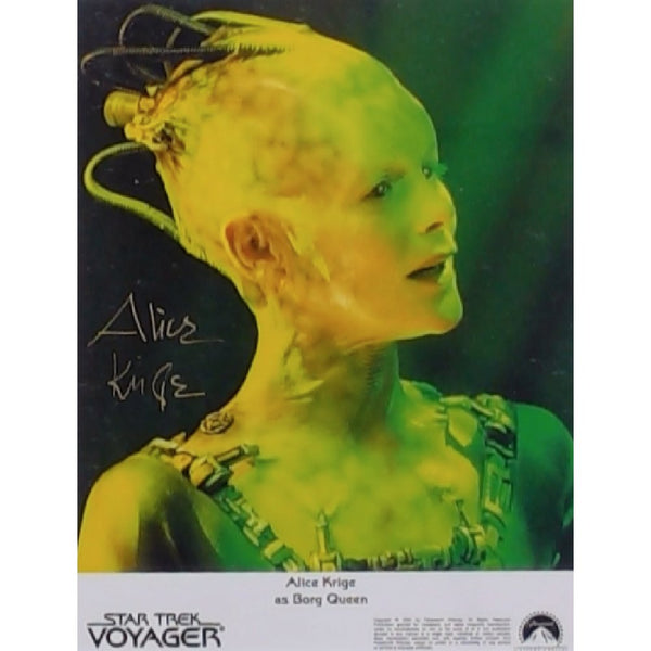 Alice Krige as Borg Queen Mounted Colour Photo Personally Signed