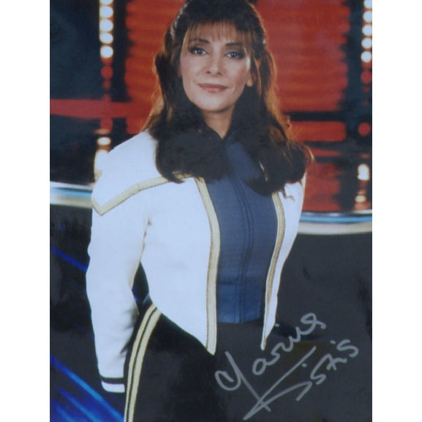 Marina Sirtis as Deanna Troi Mounted Colour Photo Personally Signed