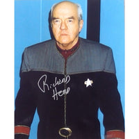 Richard Herd as Admiral Owen Paris Mounted Colour Photo Personally Signed