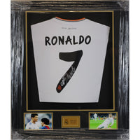Cristiano Ronaldo Framed & Mounted Personally Signed Real Madrid Shirt
