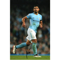 Sergio Aguero Mounted Action Photo Personally Signed