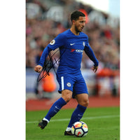 Eden Hazard Mounted Action Photo Personally Signed