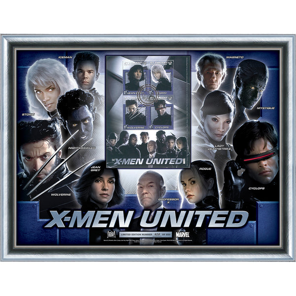 XMen United Characters Framed Large Collectors Card Limited Edition of 950 only