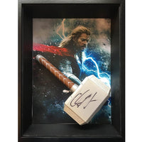 Chris Hemsworth Personally Signed Framed Thor Hammer