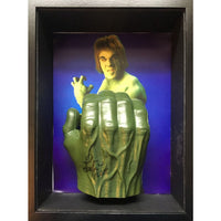 Lou Ferrigno Personaly Signed Framed Hulk Hand