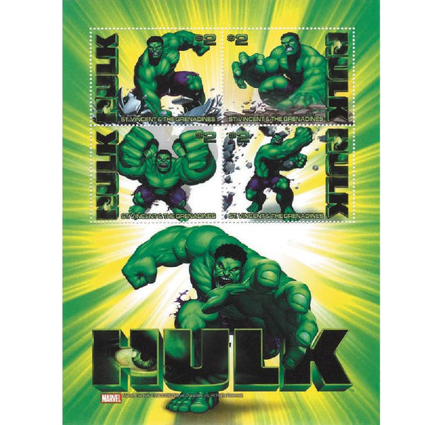 The Hulk Framed Collectors Stamps Sheetlet