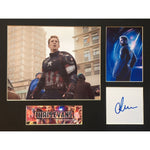 Chris Evans as Captain America Photo Montage Personally Signed