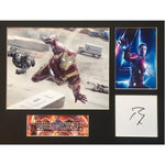 Robert Downey Jnr as Ironman Photo Montage Personally Signed
