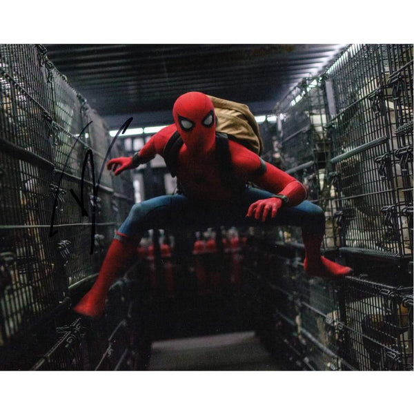 Tom Holland as Spiderman Colour Photo Personally Signed