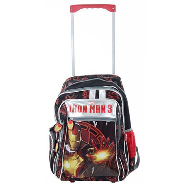 Marvel Ironman 3 Wheeled Trolley Backpack Cabin Bag
