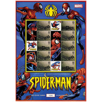 Spiderman GB Stamps Sheetlet  featuring Super Hero Images