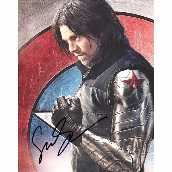 Sebastian Stan in Winter Soldier Photo Personally Signed
