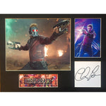 Chris Pratt in Guardians of the Galaxy Photo Montage and Personally Signature