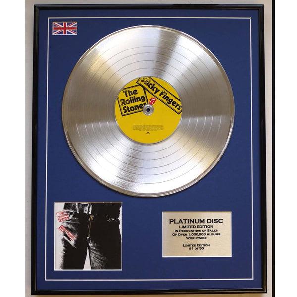 Rolling Stones Sticky Fingers Framed & Mounted Platinum Disc Ltd Edition of only 50