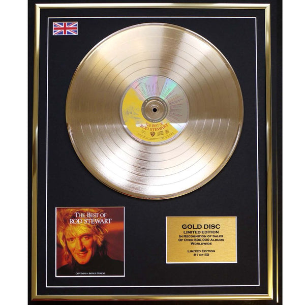 Rod Stewart The Best Of Framed & Mounted Gold disc Ltd edition of only 50  Worldwide