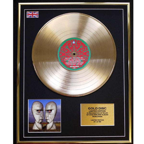 Pink Floyd Division Bell Framed & mounted Gold Disc Ltd Edition of only 50 Worldwide