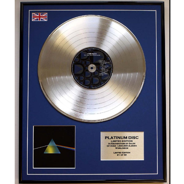 Pink Floyd Dark Side of the Moon Framed & Mounted Platinum Disc Ltd Edition of  only 50.