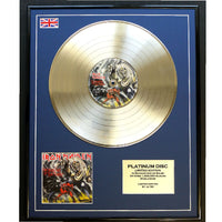 Iron Maiden The Number of the Beast Framed & Mounted Gold Disc Ltd Edition of only 50