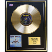 Iron Maiden Seventh Son Framed & Mounted Gold Disc Ltd Edition of only 50
