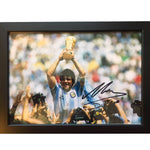 Diego Maradona Framed & Mounted Photo Display Personally Signed