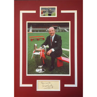 Sir Matt Busby Mounted Photo Display Personally Signed