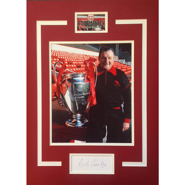 Bob Paisley Mounted Photo display Personally Signed
