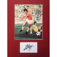 Johan Cruyff Mounted Photo Display Personally Signed