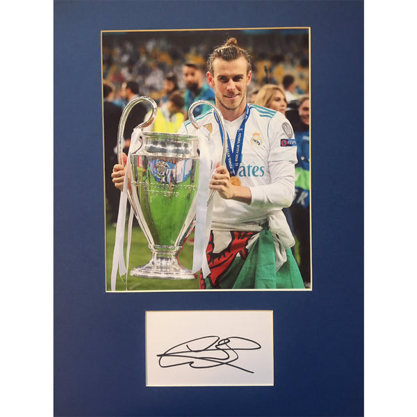 Gareth Bale - Real Madrid Champions League Winners Mounted Photo Pers. Signed