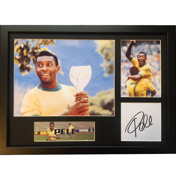 Pele Personally Signed Mounted Photo Display
