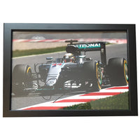 Lewis Hamilton 12 x 8 Action Photo Personally Signed