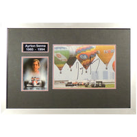 Ayrton Senna Mounted Photo & Personal Signature