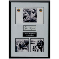 Colin Chapman Framed Photo Montage & Personal Signature Display