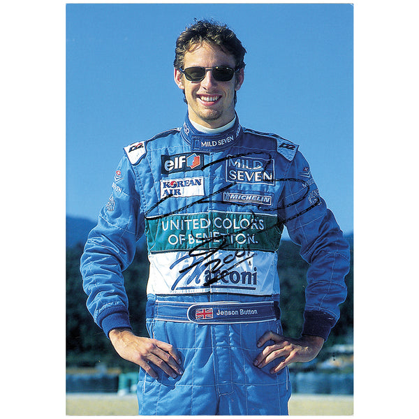 Jensen Button Colour Photo Personally Signed