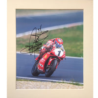 Carl Fogarty Mounted Photo & Personal Signature Display
