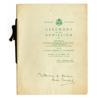Montgomery of Alamein Personalkly Signed original Government Document
